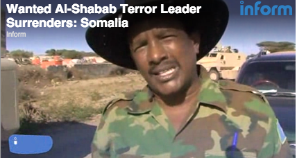 Al Shabab leader surrenders in Somalia