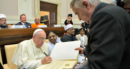 Religious leaders vow to eradicate modern-day slavery (+video)