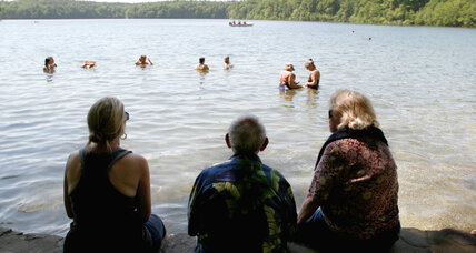 Walden Pond, where Thoreau lived simply, goes solar