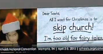 Atheist 'skip church' Christmas billboards: Offensive free speech?