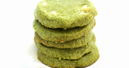 A Christmas cookie exchange and matcha green tea cookies