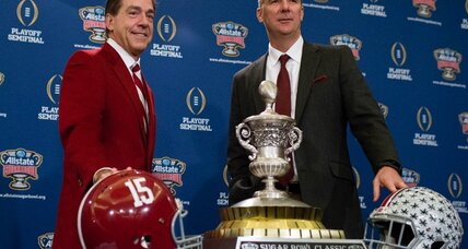 College football TV schedule: Alabama-Ohio St., Oregon-Fla. State in bowl action (+video)