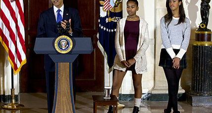 Malia, Sasha, and the turkey brouhaha: When is it OK to criticize presidential kids? (+video)