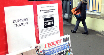 Parisians line up for Charlie Hebdo – and stand up for free speech