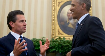 Mexico's president talks economics with Obama, but lawlessness still presses (+video)