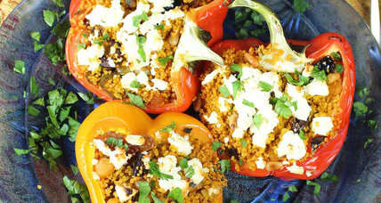 Moroccan stuffed peppers with couscous