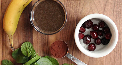 Cherry chocolate green smoothie
