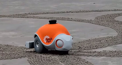 Can a robot turn a beach into a work of art?