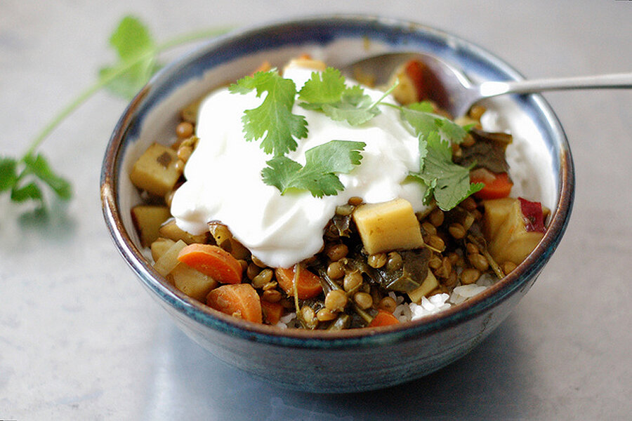 Curried lentil and sweet potato stew - CSMonitor.com