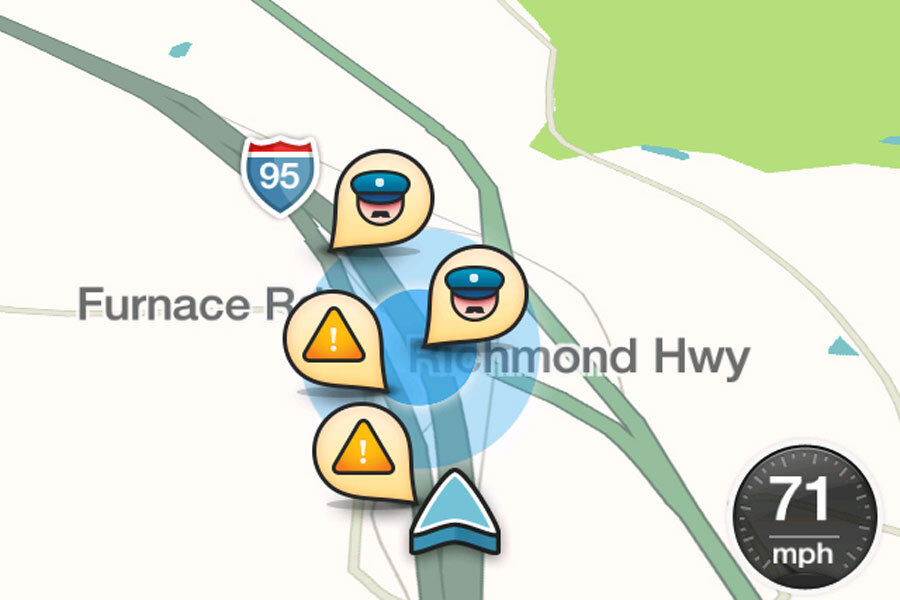 When does a traffic app become dangerous? Waze sparks police