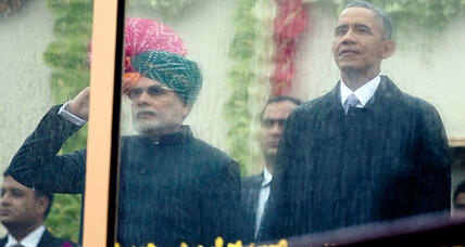 Amid pomp on Delhi's King's Ave., signs of a changing US-India relationship (+video)
