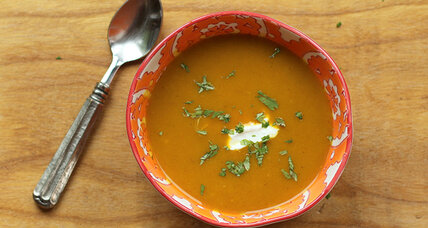 Indian spiced butternut soup in the slow cooker