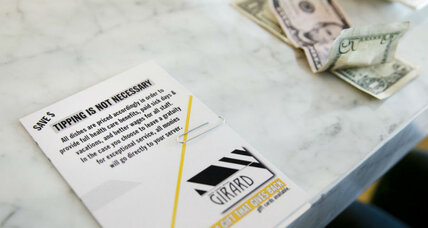 Could tipping reach a tipping point? Some restaurants try new model.