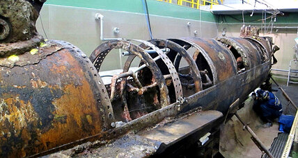 Confederate submarine's hull again revealed 150 years later