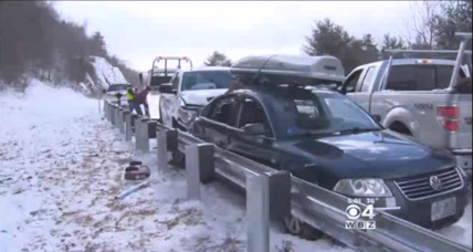 12 injured in New Hampshire pileup as New England braces for more snow