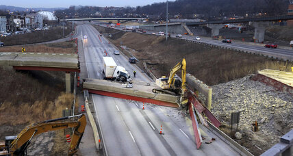 Debris from deadly Ohio highway overpass collapse being removed