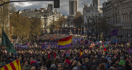 More than 100,000 march in support of left-wing Spanish party (+video)
