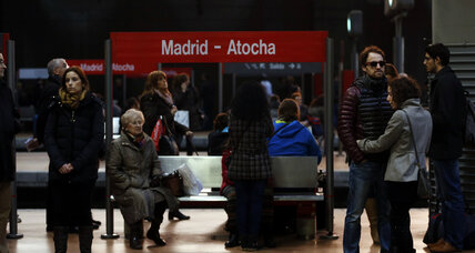 Though a hoax, Madrid train bomb threat deepens jitters about 'lone wolf' attacks (+video)