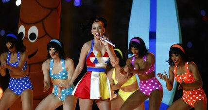 Katy Perry delivers sparkles, chuckles in Super Bowl halftime show