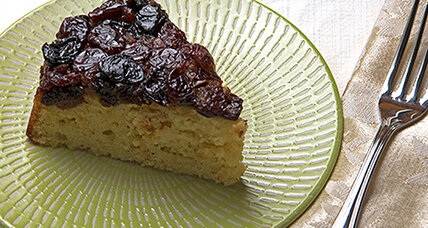 Dried cherry upside down cake