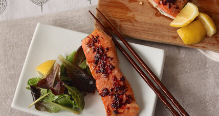 Four-ingredient maple adobo wild salmon