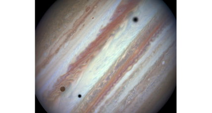 Hubble snaps three moons casting shadows on Jupiter