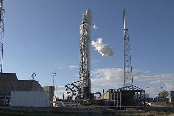 a spacex falcon 9 rocket carrying the dscovr space weather satellite is fueled for a feb 8 2015 launch attempt that was aborted due to an air force radar