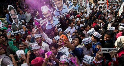 Delhi election: Why an idealistic 'Common Man' beat PM Modi's party (+video)