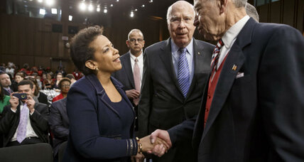 Why is Senate committee delaying vote on Loretta Lynch nomination?