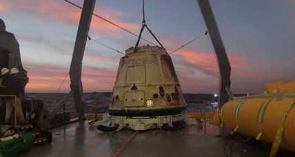 SpaceX Dragon returns home