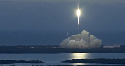 Following launch delays, SpaceX DSCOVR satellite soars towards space