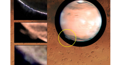 Mysterious Martian 'plumes' baffle scientists