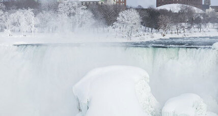 Is Niagara Falls actually frozen solid?
