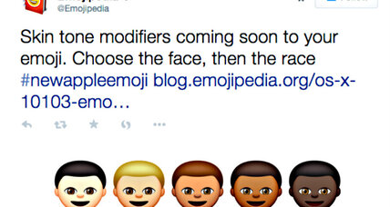 Apple emoji embraces racial diversity
