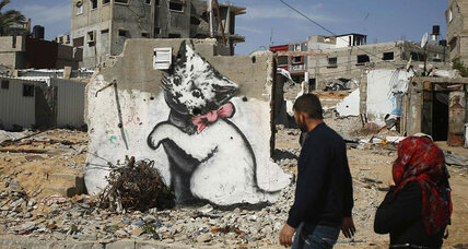 What is Banksy doing in Gaza?