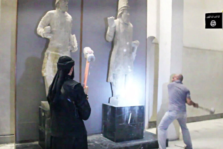 Why is ISIS destroying ancient artifacts in Iraq?