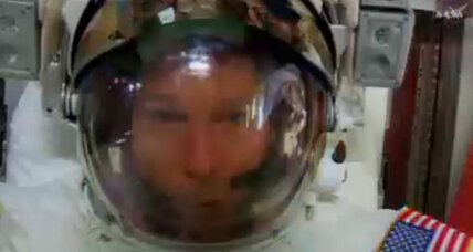 Astronaut safe after helmet leak on NASA spacewalk