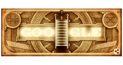 Alessandro Volta: Google Doodle celebrates inventor of the battery (+video)