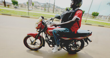 The road to more income in Uganda? Owning a motorcycle.