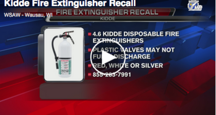 Kidde recalls 4.6 million fire extinguishers