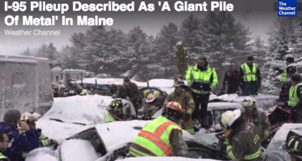 I-95 shutdown in Maine after 40-vehicle pileup (+video)