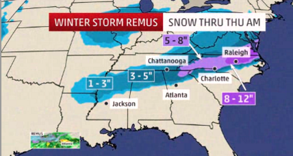Southerners brace for what could be record-breaking snowfall