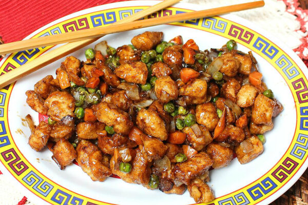 ... quick stir fry with this Chinese chicken with black pepper sauce
