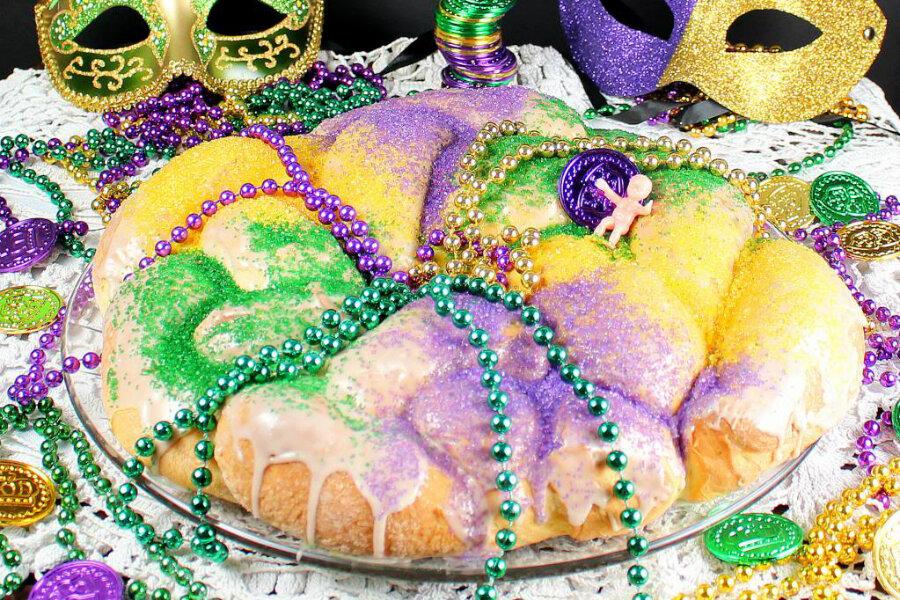 King's Cake for Mardi Gras