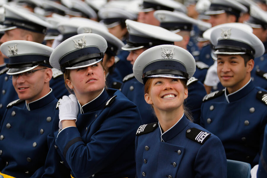 Pentagon push for women s equality gets murky at academies  doorsteps dd75b82dc