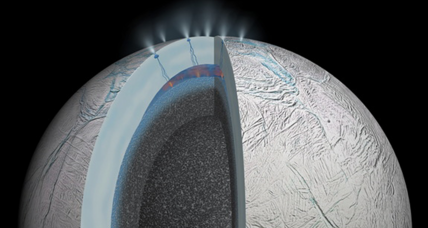 On a moon of Saturn, a boiling ocean?