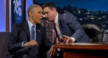 Obama talks mean tweets, Ferguson on Jimmy Kimmel. Odd combo?