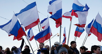 Russia rules out return of Crimea, defying sanctions on its ailing economy