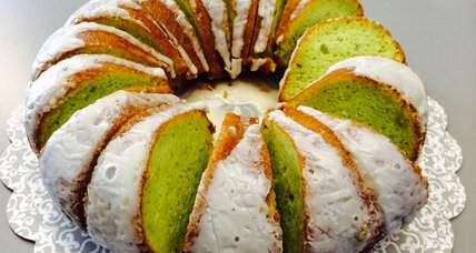 Pistachio cake for St. Patrick's Day