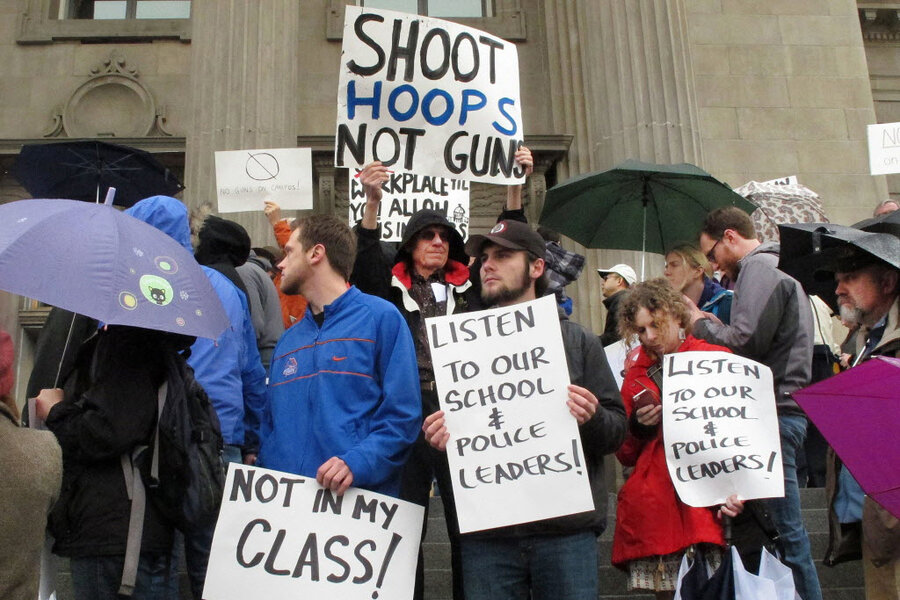 guns on campus essay Firearms on college campuses : research evidence and policy implications proposals to allow guns on college campuses must consider the fact that serious.